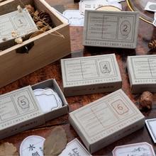 Paper Sticker Scrapbooking Basic-Specimen Retro Planner Craft Diary DIY for Label 50pcs/Box