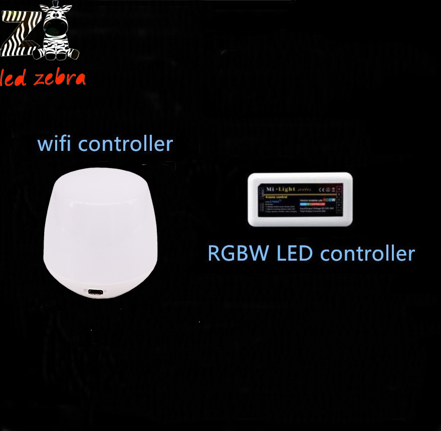 ФОТО led controller mi.light 2.4g wifi ibox+wireless rf rgbw 4-zone controller for rgbw led strip bulb lamp