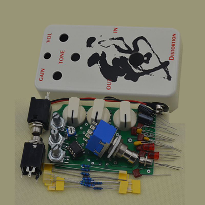 distortion diy guitar pedal kit with 1590b and lm833 true bypass ds no1 in guitar parts. Black Bedroom Furniture Sets. Home Design Ideas
