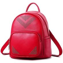 Высокое качество женский рюкзак стиль Повседневная сумка заклепки женский рюкзак полиуретан кожаный рюкзак для девочек сумка заклепки Angry Birds