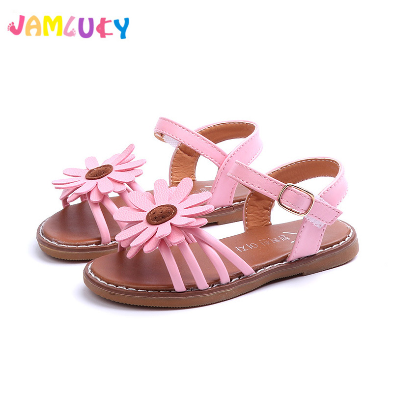 9978e60bd7b372 Girl Children Sandals Leather Shoes 2018 Fashion Candy Color Breathable  Fish mouth Child Baby Princess Summer Sandals Girls Shoe