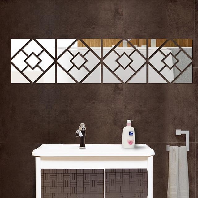3D Mirror Wall Sticker Acrylic Modern Home Decoration Wall Decor ...