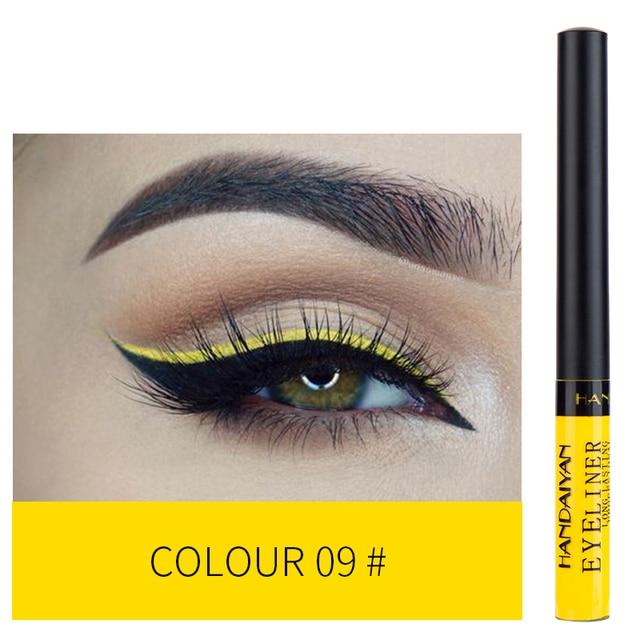 HANDAIYAN 12 Colors Waterproof Liquid Eyeliner Makeup Black White Pink Color Glitter Eye Liner maquiagem China Makeup TSLM2 1