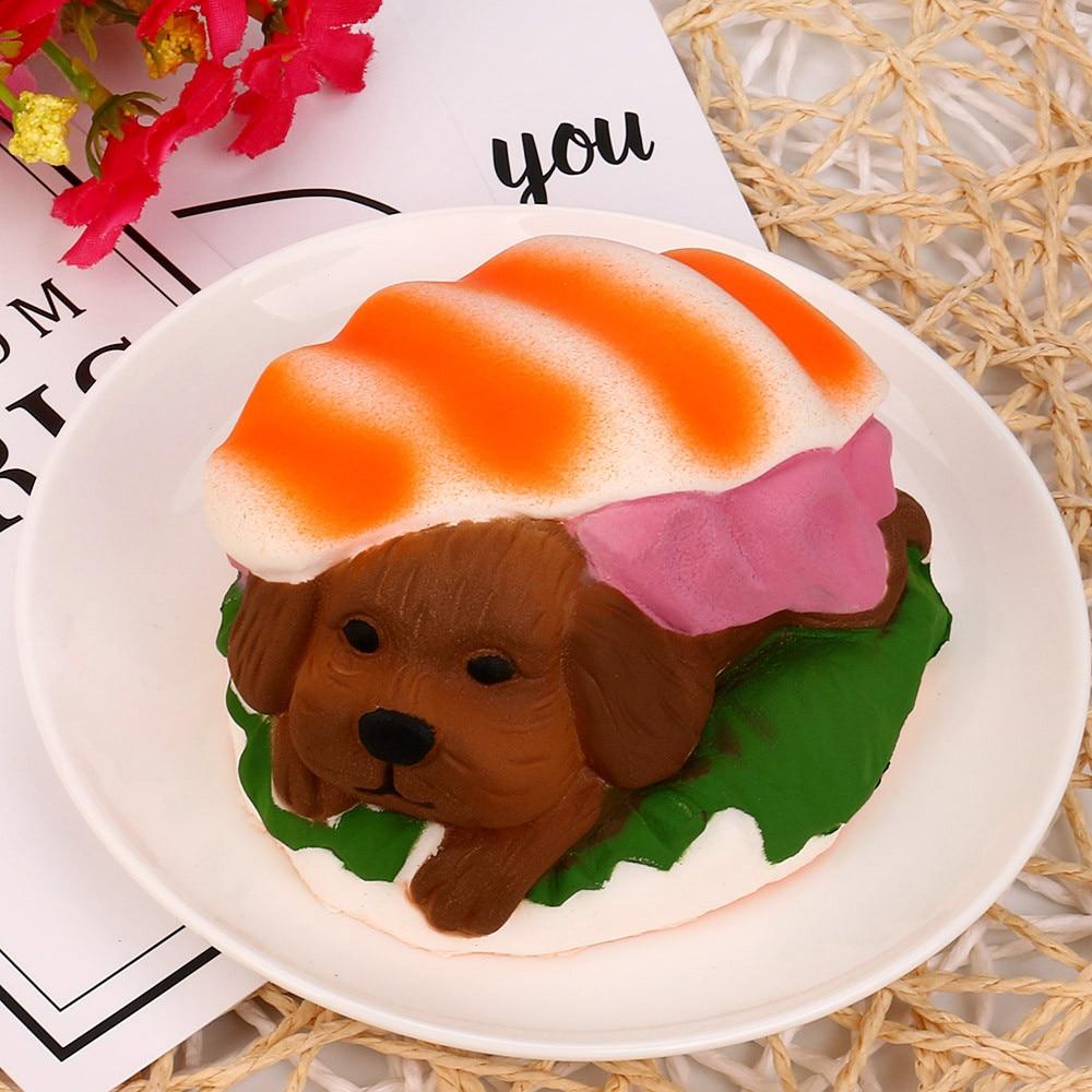 USPS squishy oyuncak squishy stress ball gadgets antistress Hamburger Dog Squishy Slow Rising Cream Scented Decompression Toys