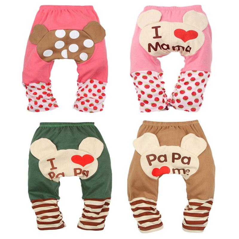 9366965a4 ⑧Bebé Leggings niño niña PP Pantalones dibujos animados imprimir ...