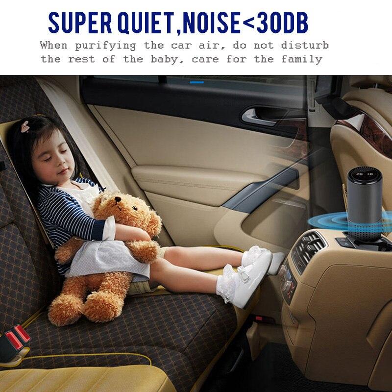 GIAHOL purificateur d'air avec filtre HEPA Air frais Anion voiture purificateur d'air capteur infrarouge purificateur d'air meilleur pour voiture maison bureau gris - 4