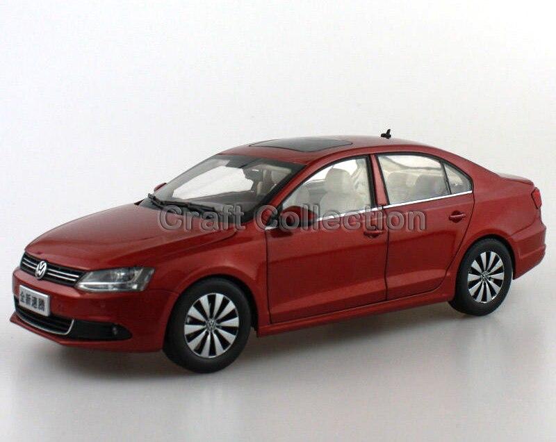 * Red 1:18 Volkswagen VW Sagitar 2012 Jetta Euro Diecast Model Car Metal Sedan Modell Autos Festival Gifts Mini Vehicle