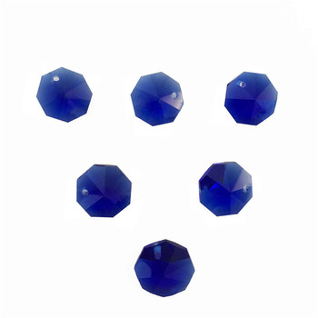 Free Shipping ,2000pcs/Lot  Sapphire  One Hole 14mm Crystal Glass Octagon Beads In One Hole Wholesale ,