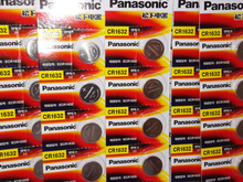 100pcs/lot New Genuine Panasonic CR1632 Button Cell Coin Batteries 1632 Car Remote Control Electric Alarm 3V Lithium Battery