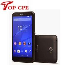 Разблокирована Оригинальный Sony Xperia E4/E2105 Android Смартфон Quad Core 1.3 ГГц 1 ГБ + 8 ГБ 5 дюймов WCDMA Сети GSM бесплатная доставка