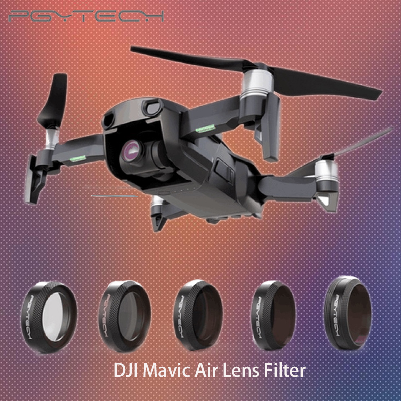 PGYTECH NEW Filter For DJI MAVIC Air Lens Filters UV CPL ND4 ND8 ND16 ND32 Filter kit MAVIC Air Drone Camera Accessories original dji mavic air nd filters set nd4 8 16 for mavic air camera drone filter 3pcs filter dji mavic air accessories