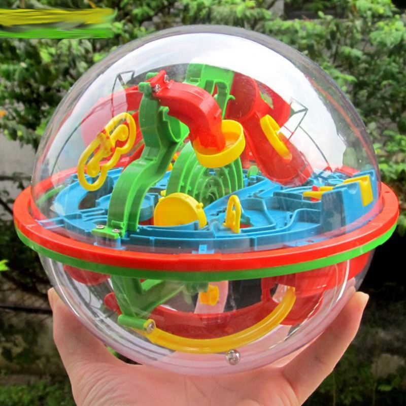 3D Magic Maze Ball Puzzle Maze Ball (Small Size/ 100 Level)  Intellect Ball Educational Toys Marble Puzzle Game IQ Balance Toy