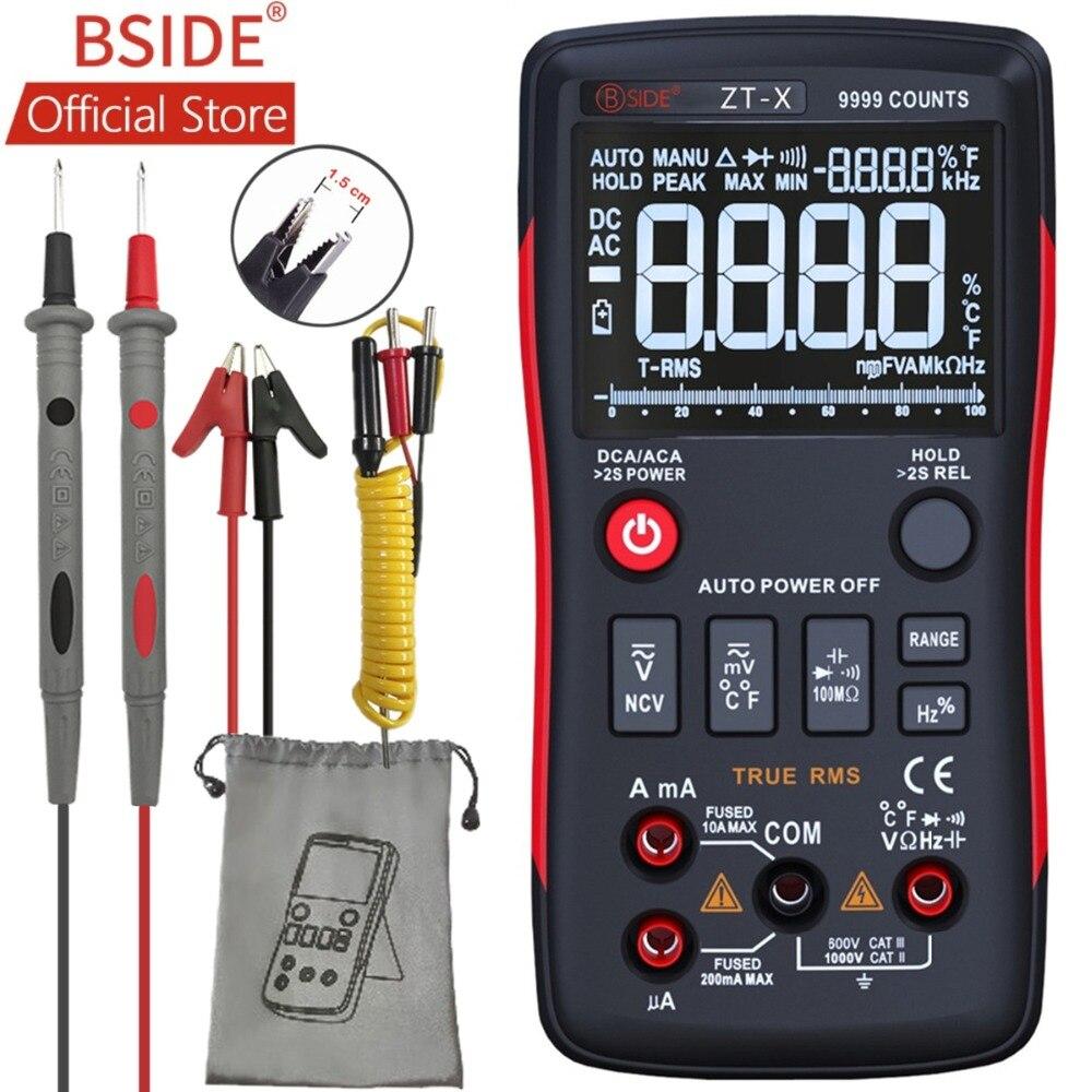 BSIDE ZT X True RMS Digital Multimeter 3 Line Triple Display 9999 Counts AC DC Voltage