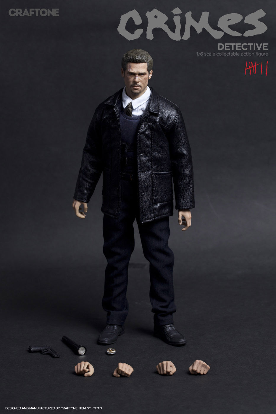 CT-010 1/6 Scale CRIMES Brad Pitt Detective Body Head 12inch Action Figure Box Set Collectible Model Toys Collections