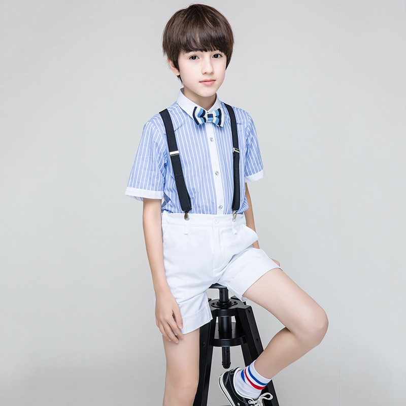 Boys Summer Three-piece Summer Suit Elementary School Students Boys Performance Costume 2019 Flower Boy Clothes  RKS194006Boys Summer Three-piece Summer Suit Elementary School Students Boys Performance Costume 2019 Flower Boy Clothes  RKS194006