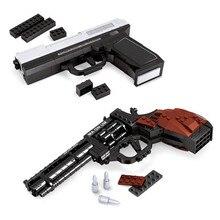 MP-45 Semiautomatic Pistol Arms Model 1:1 3D 268pcs Black Model Brick Gun Building Block Set Toy Compatible With gift