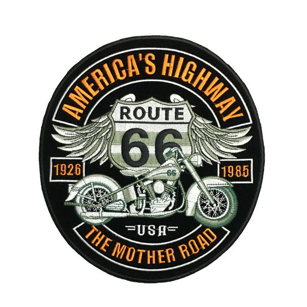 ROUTE 66 Motor Embroidered Patches Jacket iron patches T Shirt Patch Stickers