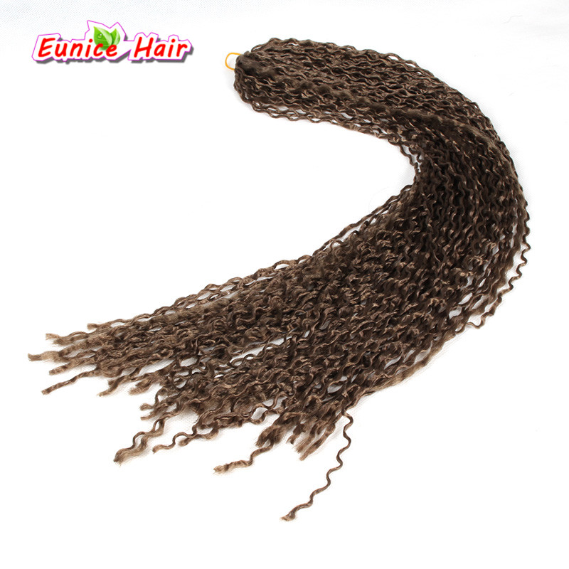 Crochet Braid Curly Synthetic Hair kanekalon Braiding 24inch Freetress Zizi Curl Hair Micro Knot ZIZI Braids Synthetic Hair