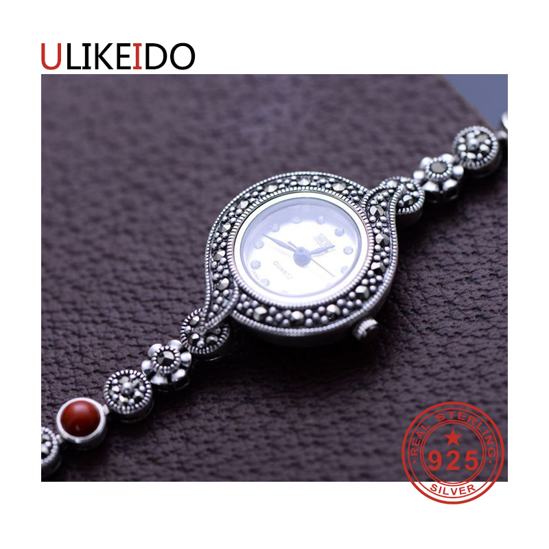 100% Pure 925 Sterling Silver Watch Men Fashion Hand Chain For Women Thai Silver Jewelry Charm Bracelet Homme 1516 925 sterling silver mens bracelets fashion domineering classic hand chain for men and women special jewelry charm bracelet 267