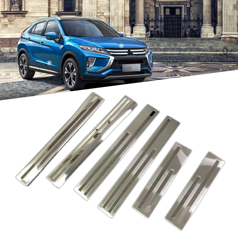 Stainless Steel Door Sill Scuff Plate Threshold Plate Protector Cover For Mitsubishi Eclipse Cross 2018 car-styling accessories цена
