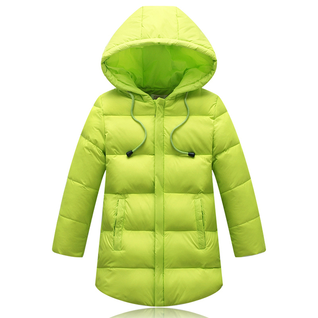 23d64d131aadd New 2017 Children Long Style Coats Outerwear Winter Boys Jackets Thick Down    Parkas Cotton Solid Clothes For Kids Girls 110-150
