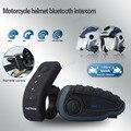 ¡ Venta caliente! Intercomunicador impermeable auricular bluethooth 1200 M V8 Bluetooth Casco de La Motocicleta Intercom Headset Interphone ControI Remoto