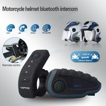 Hot sale! Waterproof Intercom bluethooth headset 1200M V8 Bluetooth Motorcycle Helmet Remote ControI Interphone Intercom Headset