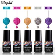 Maphie 78 Colors Shiny Glitter UV Nail Gel Polish Neon Color Sequins UV Gel Led Nail Polish Soak Off Semi Permanent Nail Varnish