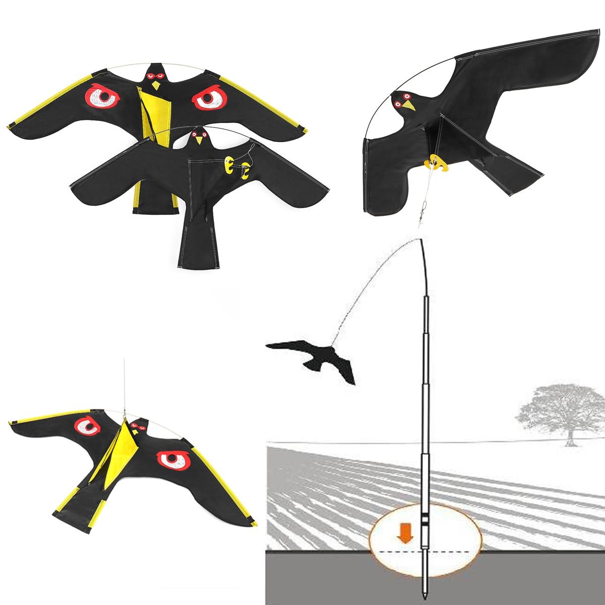 NEUE Emulation Fliegen Hawk Vogel Scarer Stick Vogel Kite Für Garten Scarecrow Yard Startseite