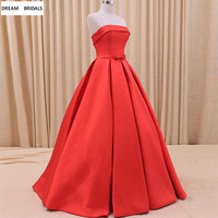 Red Long Formal Evening Dresses Abiye Gece Elbisesi 2019 Couture Robe De Soiree Sleeveless Pleat Ruched Prom Party Dresses