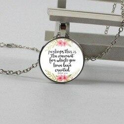 Yeni belki bu moment it oluşturur kolye inspired tarafından mücevher Esther 4:14 Hıristiyan hediye