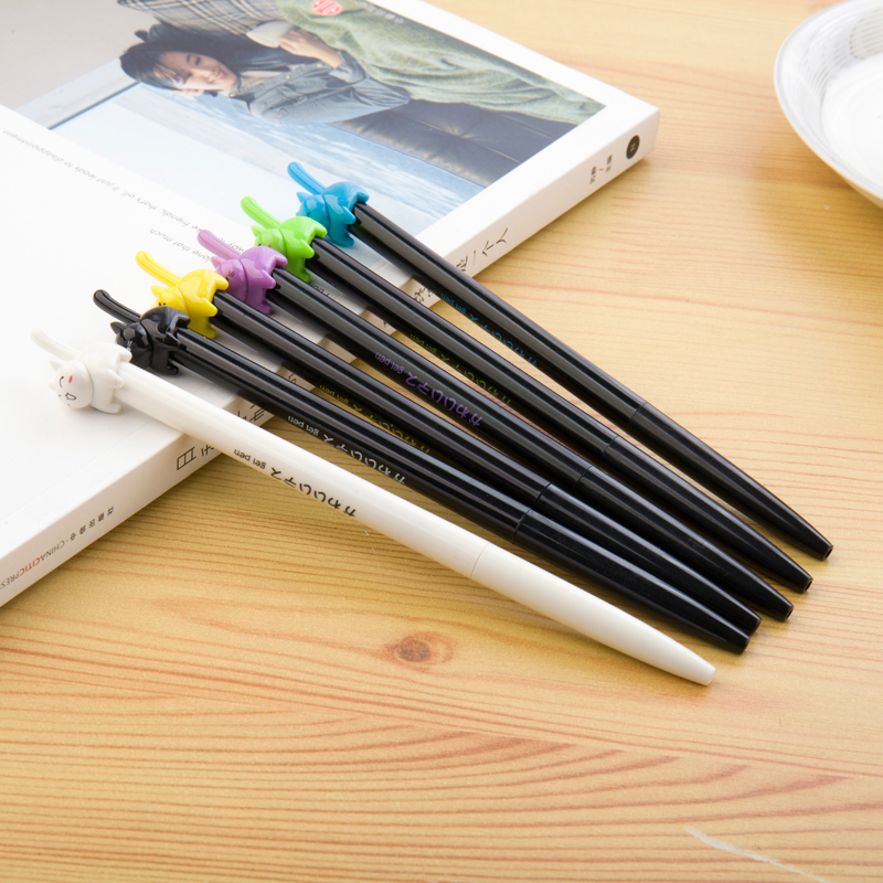 4 pcs Kawaii cat pen for writing 0 5mm ballpoint black ink gel pens Stationery Office accessories school supplies FB579 in Gel Pens from Office School Supplies