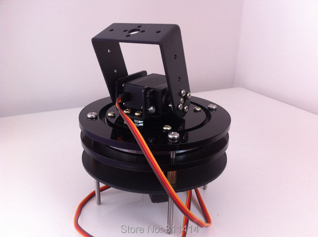 US $38 99  1set 2 DOF Robot Base Arduino Servo PTZ Camera Photography  Turntable Chassis Mount Kit Wholesale Retail Promotion Free Shipping-in  Action &