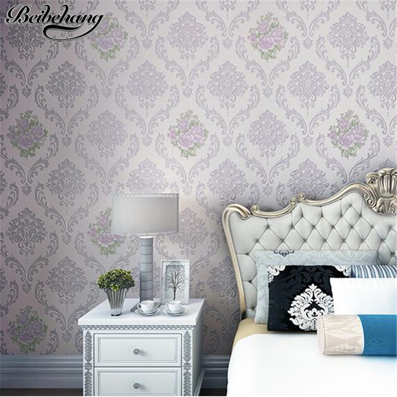 beibehang European style pasta non-woven fine pressure wallpaper 3d relief girl bedroom new wallpaper warm romantic small floralbeibehang European style pasta non-woven fine pressure wallpaper 3d relief girl bedroom new wallpaper warm romantic small floral