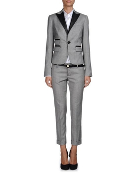 2 piece Gray Pant Suits Formal Ladies Office OL Uniform Designs Women Business Work Wear One Button Jacket with Trousers Set W44