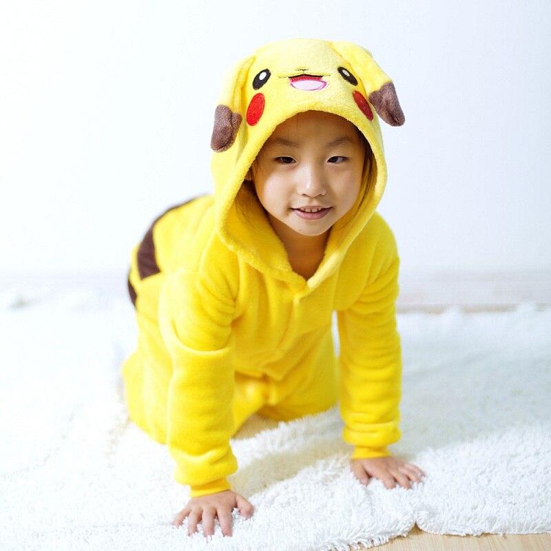 ... косплей аниме кигуруми для детей горячие дети покемон пикачу динозавров  дети девушки парни теплые мягкие пижамы ... 2ab9aeb9215dc