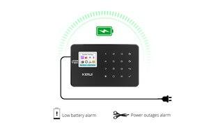 Image 3 - KERUI W18 أسود اللون العقلية التحكم عن بعد لاسلكية Wifi GSM إنذار المنزل APP LCD GSM SMS جهاز إنذار ضد السرقة نظام