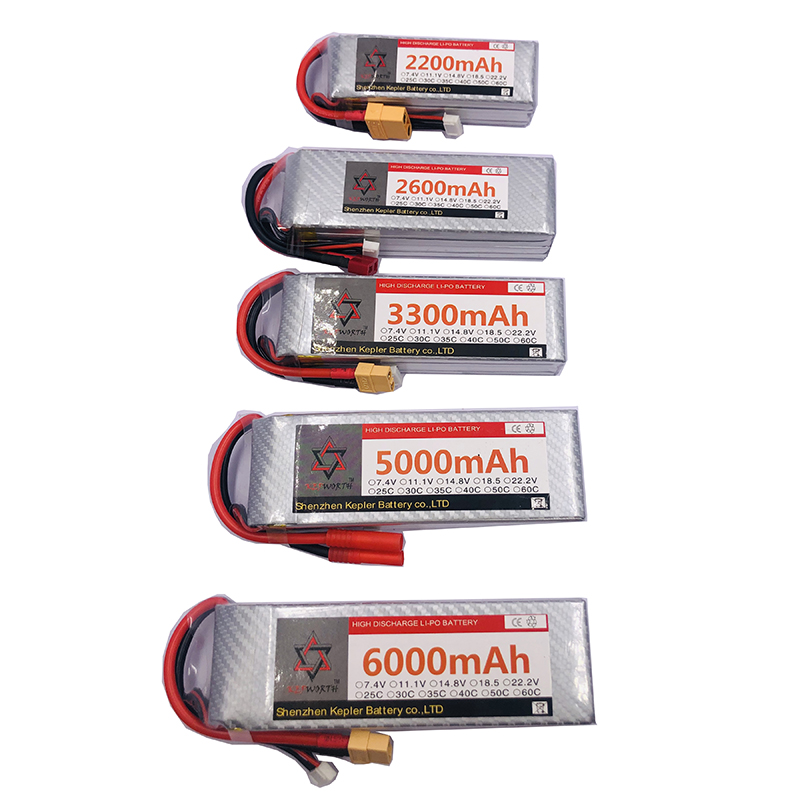 <font><b>2s</b></font> 7.4v RC Lipo <font><b>Battery</b></font> 6000 2200 2600 3300 5000mAh Lithium Ion Polymer <font><b>Battery</b></font> For Car Plane Boat Truck Tank Drone Helicopter image