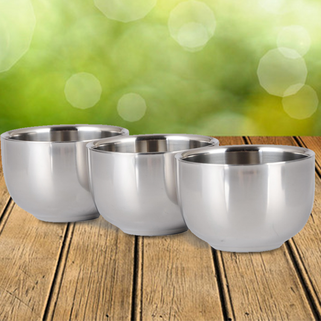 7.2cm Stainless Steel Nonmagnetic Cup Smooth surface Home and garden kitchen tool Kitchen accessary two layer Cup