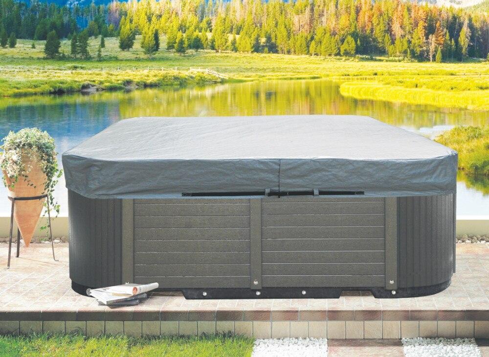 온수 욕조 커버 백, 스파 커버 가드 (237x227x30 cm), 150 cm ~ 580 cm 온수 욕조 커버 캡으로 사용자 정의 가능-에서온도 조절 제품부터 홈 & 가든 의  그룹 1