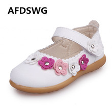 hot deal buy afdswg spring and autumn flowers pu waterproof tendon soft bottom girls pink shoes white girls shoes leather party princess