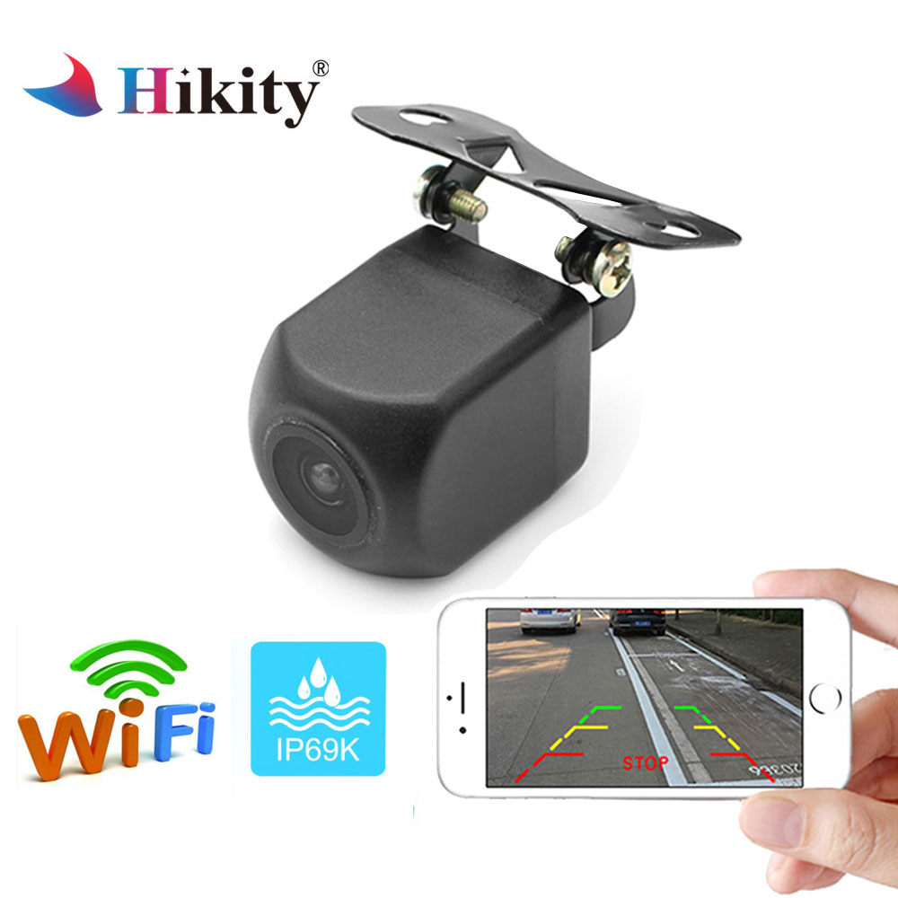 Hikity WIFI Car Rear View Camera Metal body Rearview Camera Car Park Monitor Mini Parking Reverse Night vision Backup Camera