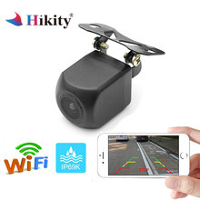 Hikity WIFI Cámara de vista trasera del coche de Metal Cámara retrovisora coche Park Monitor Mini aparcamiento inversa de la visión nocturna de la cámara de seguridad
