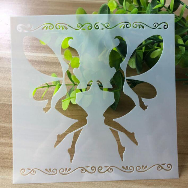 Angel Elf Diy Album Production Handmade Material Accessories Painting Template Openwork Decor Scrapbooking Stencil For Drawing