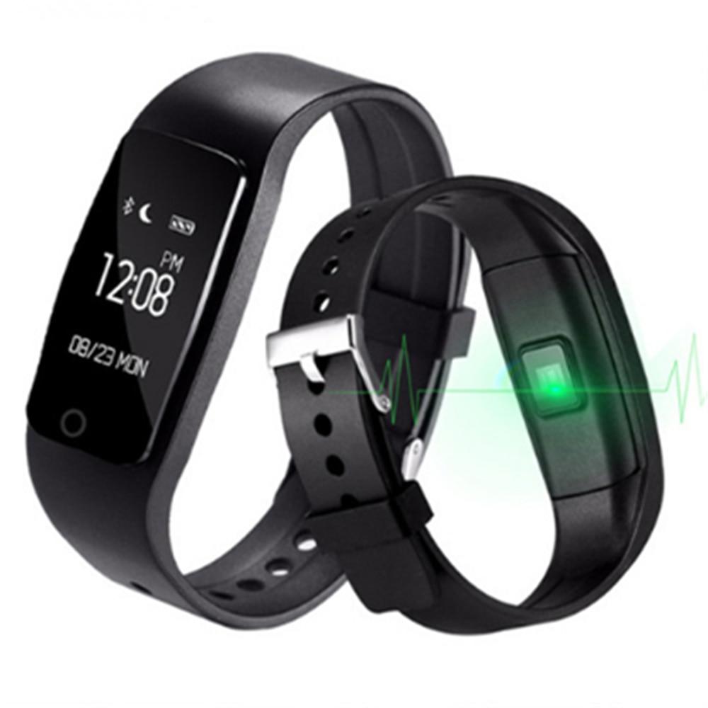 S1 Smartband สร้อยข้อมือสมาร์ทสายรัดข้อมือสร้อยข้อมือที่มีอัตราการเต้นหัวใจสมาร์ทฟิตเนสทัชแพด OLED ดีกว่า Fitbit สำหรับ IOS Android