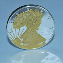 free shipping 20pcs/lot,2013 American Eagle Gold /Silver Coin,No Magnetic Copy