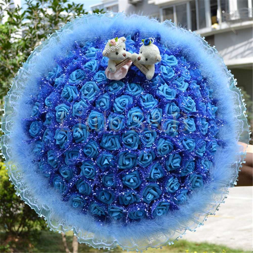 100pcs Blue Rose Seeds Romantic Flower Seed Garden Plants Wedding
