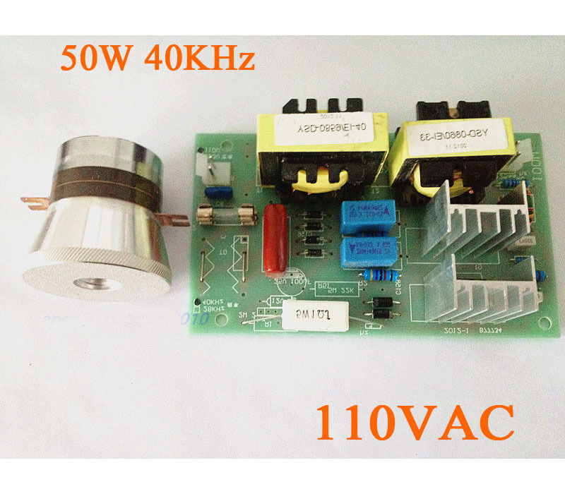 ФОТО AC 110V 50W 40KHz Ultrasonic Cleaning Transducer Cleaner + Power Driver Board