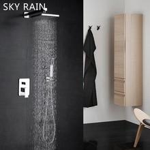 SKY RAIN Bathroom High Quality Overhead Shower Ultra-thin Head Rainfall Set