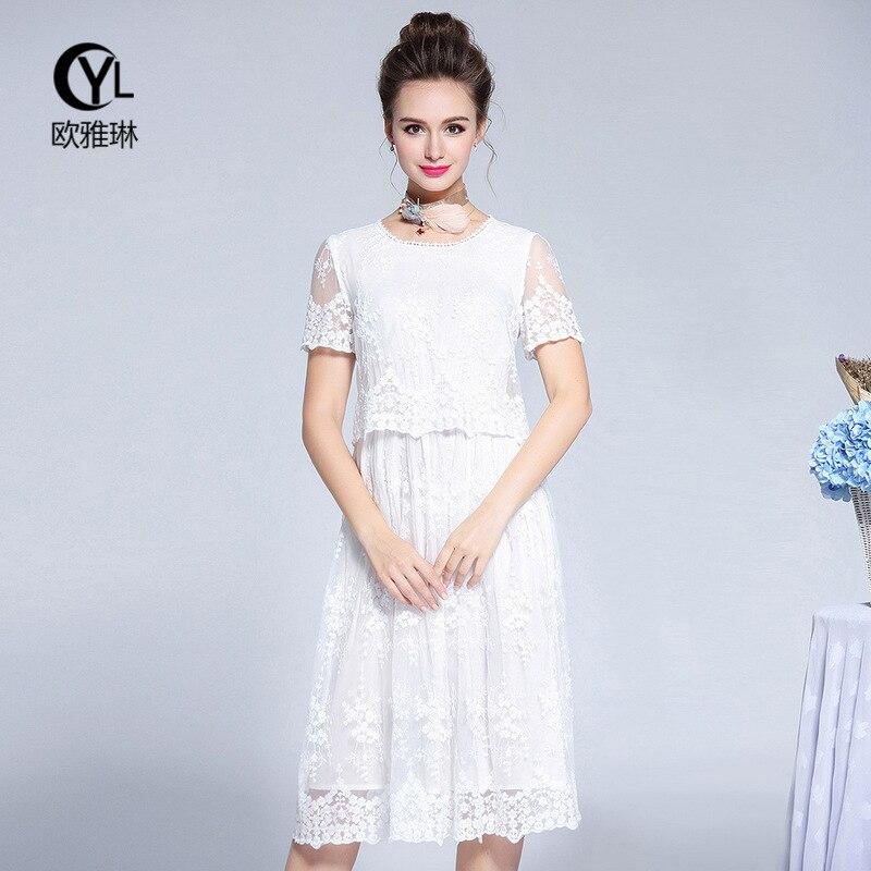 Mini Plus Rose Mm Taille Robes Longue Robe Brodé De La blanc Summer F2905911 New 2018 SZSYCwq